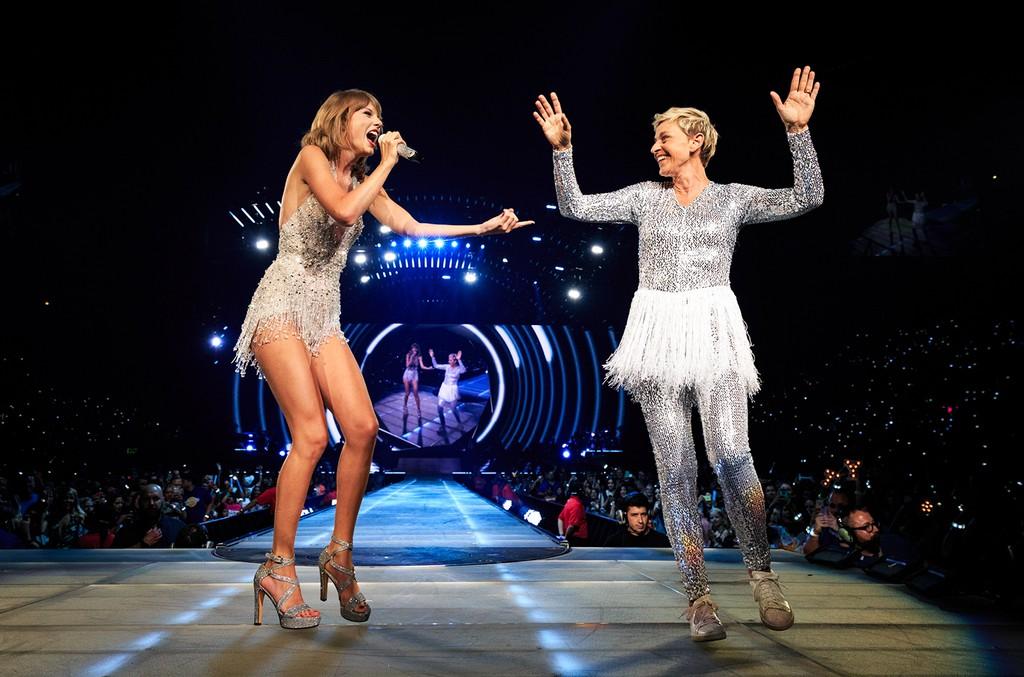Taylor Swift and Ellen DeGeneres