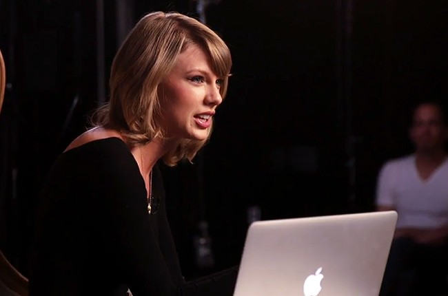 Taylor Swift during a Grammy Pro talk in 2015.