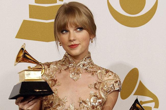 Taylor Swift at the 2012 Grammys