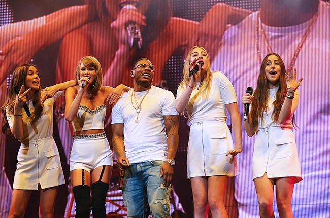 Taylor Swift performs with HAIM and special guest Nelly