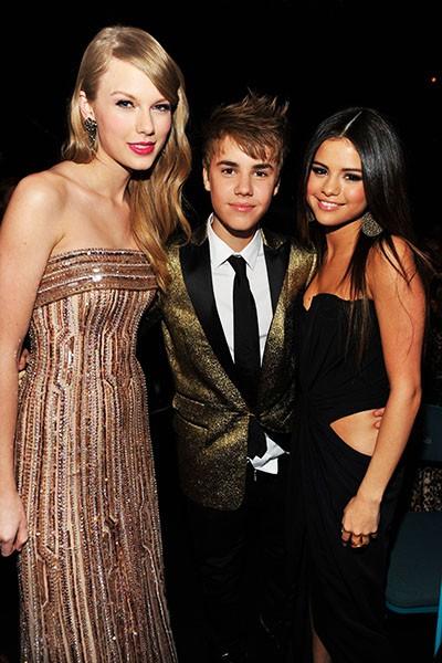 Taylor Swift, Justin Bieber, and Selena Gomez, 2010.