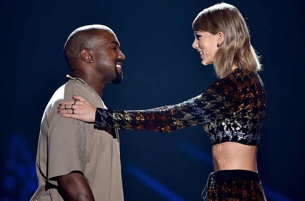 Kanye West and Taylor Swift in 2015