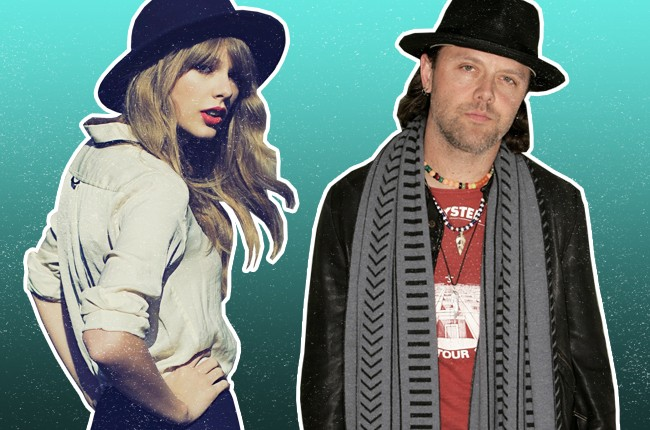 Taylor Swift and Lars Ulrich