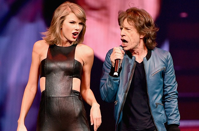 Taylor Swift and Mick Jagger