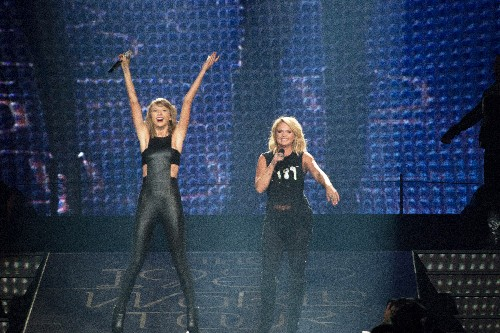 Taylor Swift and Miranda Lambert perform at the Greensboro Coliseum