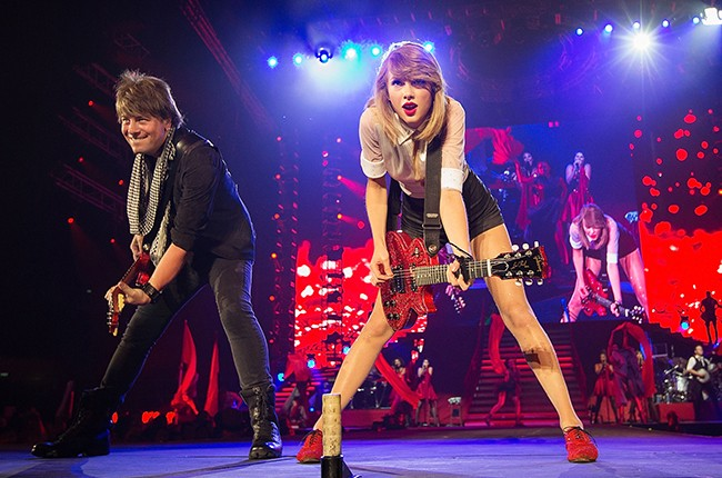 Taylor Swift performs in Singapore