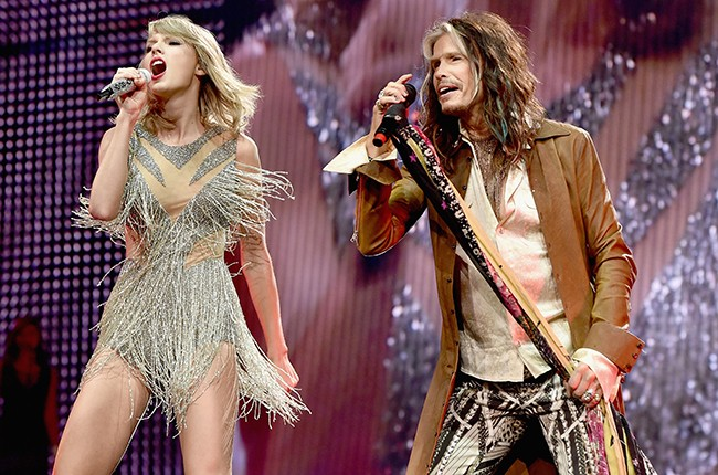 Taylor Swift and Steven Tyler