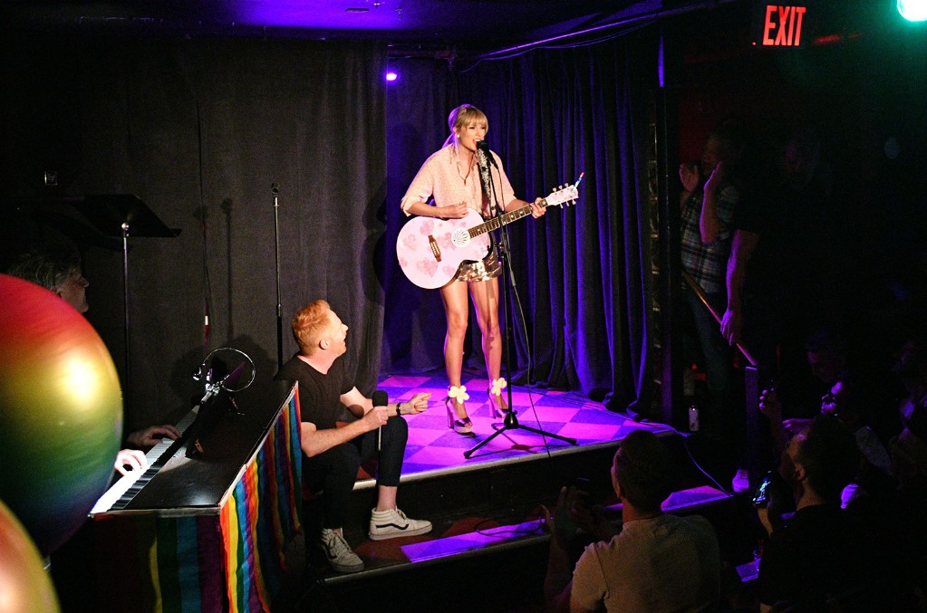 Taylor Swift performs at AEG and Stonewall Inns pride celebration commemorating the 50th anniversary of the Stonewall Uprising. AEG has pledged its support to SIGBIs development of an LGBTQ+ anti-bias training standard. #EqualityForAll #BetterAsOne