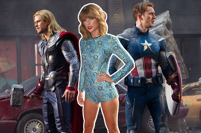 Taylor Swift and The Avengers