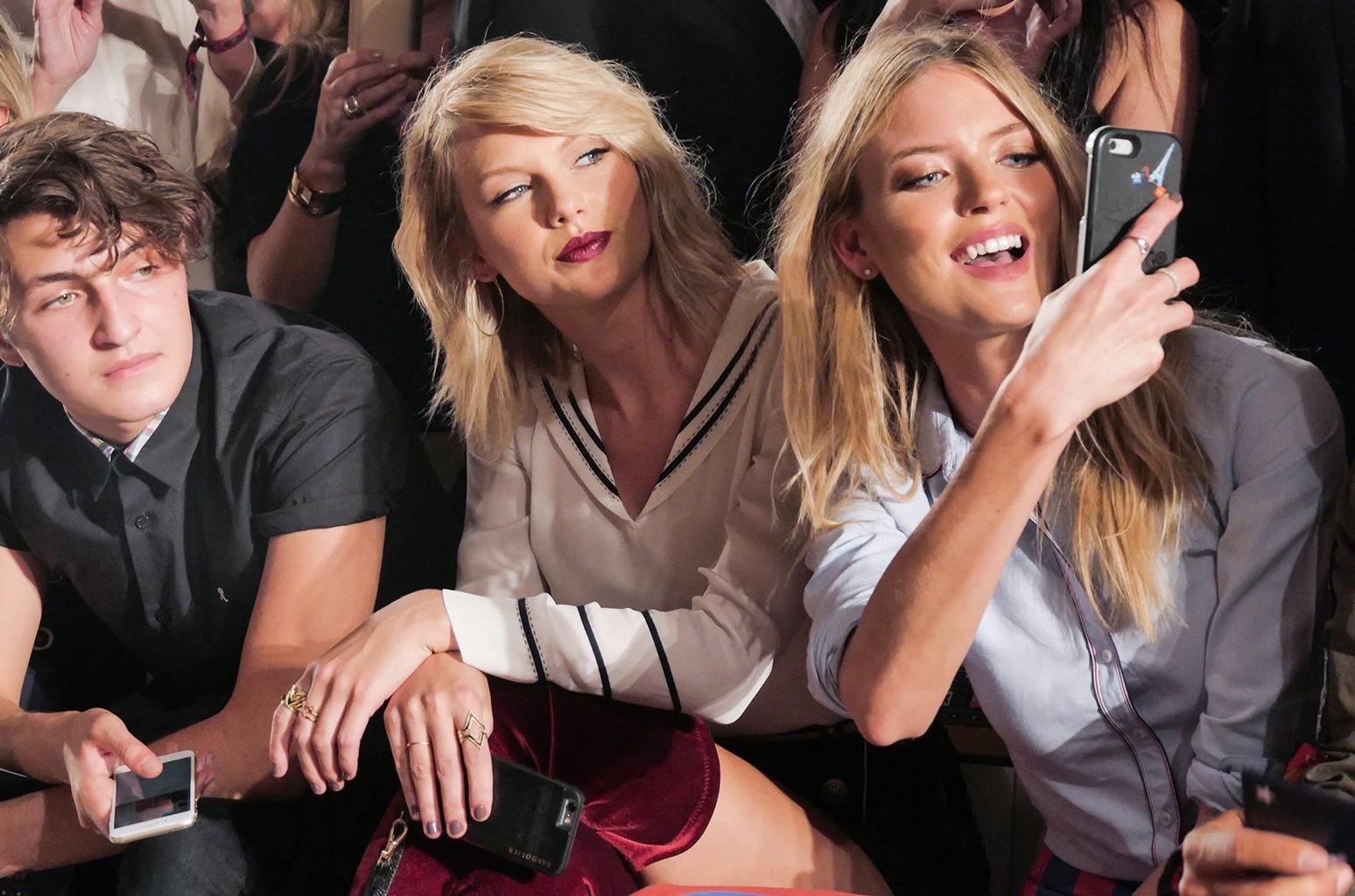 Taylor Swift and Martha Hunt
