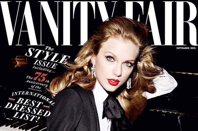 Taylor Swift on the September 2015 cover of Vanity Fair, photographed by Mario Testino.