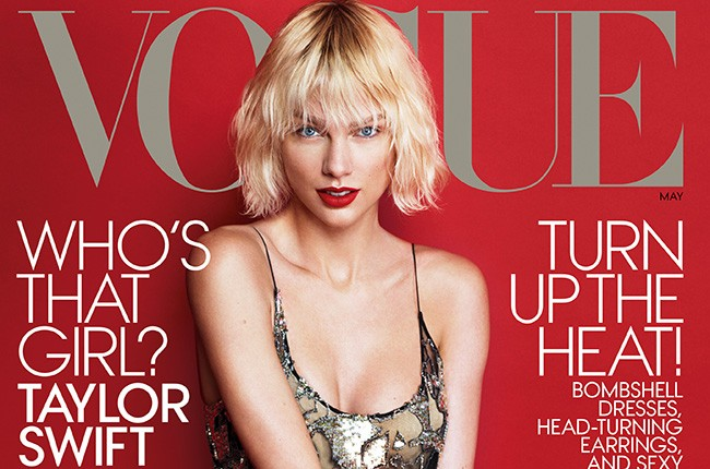 Taylor Swift on the May 2016 cover of Vogue