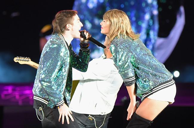 Taylor Swift and Nicholas Petricca of Walk the Moon