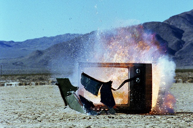 Television Exploding