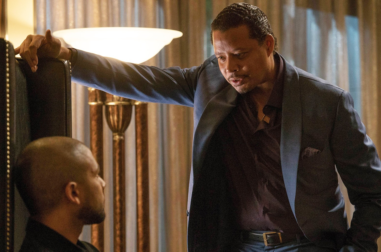 Jussie Smollett and Terrence Howard on Empire