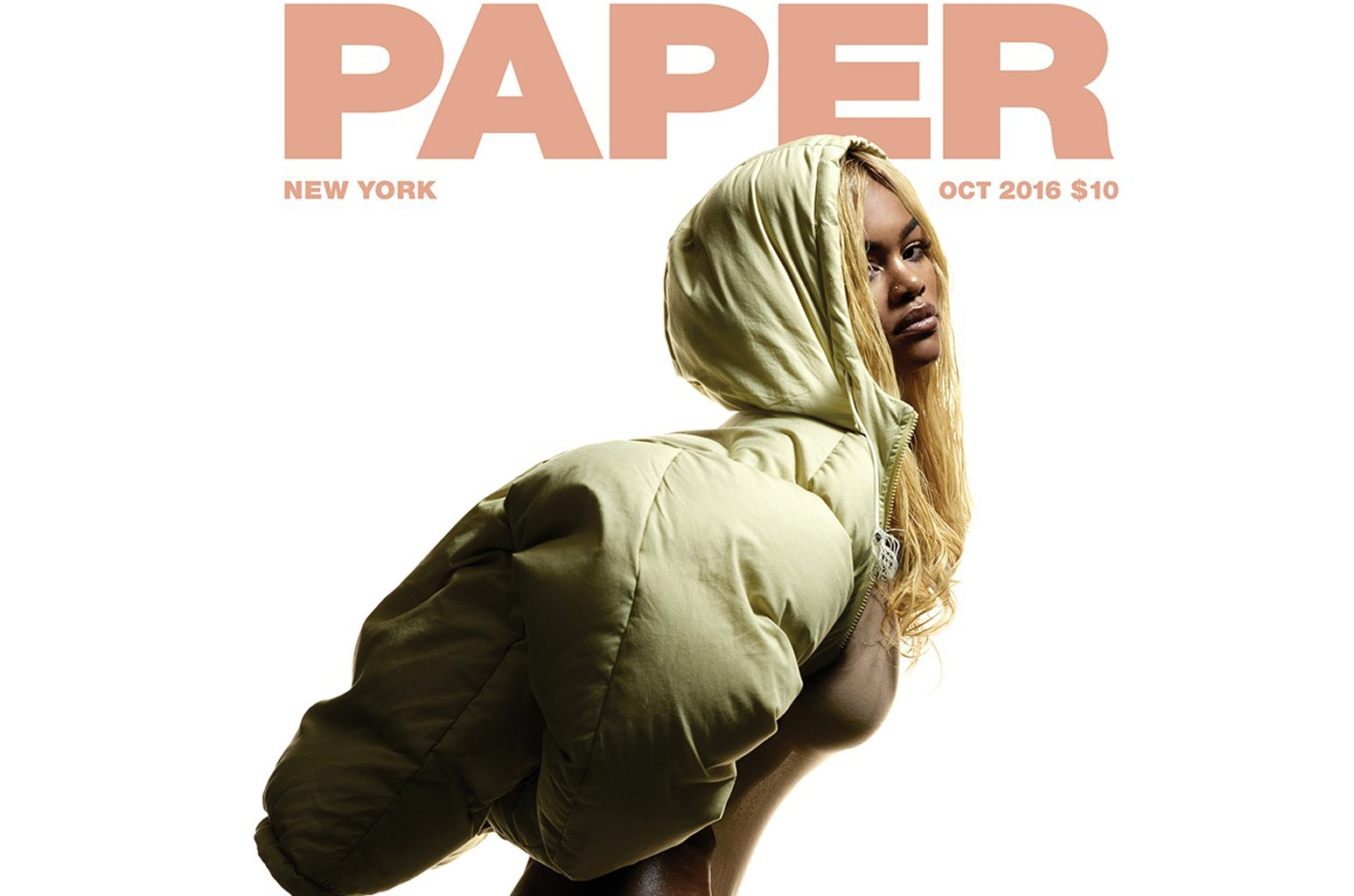 Teyana Taylor on the cover of the Oct. 2016 issue of Paper Magazine.