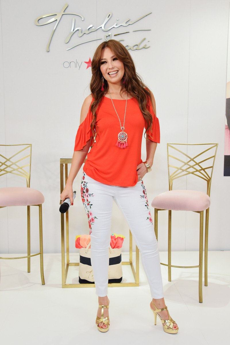 Thalia celebrates the launch of her Thalia Soda collection at Macy's Herald Square on June 1, 2017 in New York City.