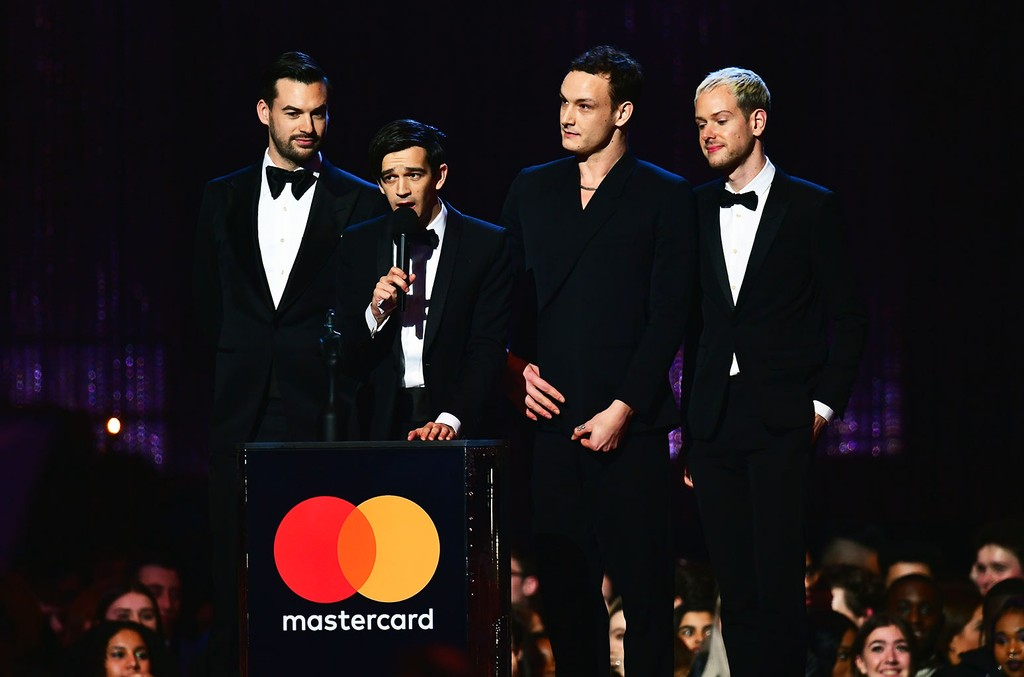 The 1975 accepts the award for Best British Group on stage at the Brit Awards 2019 at the O2 Arena, London.
