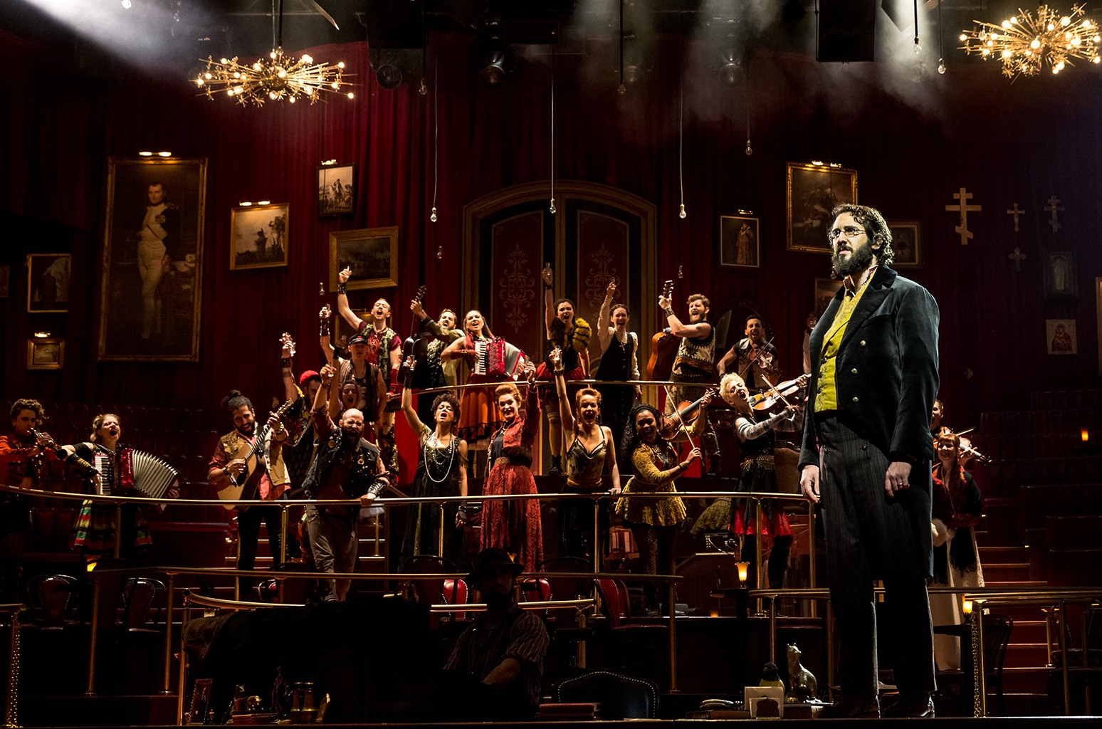 """Josh Groban and the cast of """"Natasha, Pierre & THE GREAT COMET of 1812."""""""
