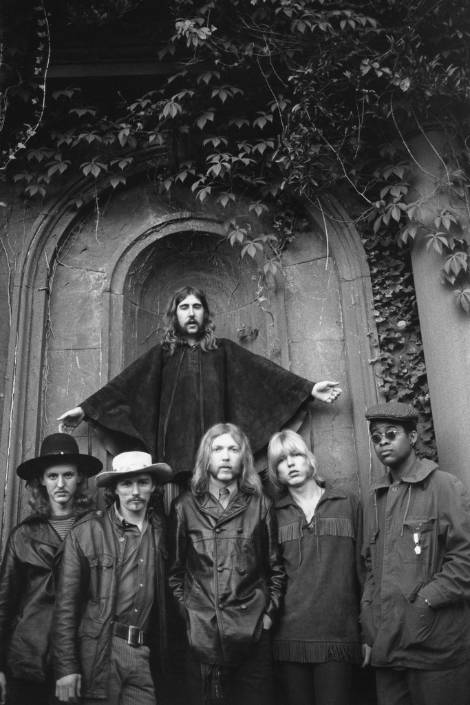 The Allman Brothers photographed on May 5, 1969 in Muscle Shoals, Ala.