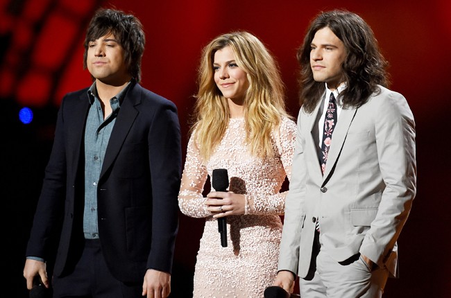 Neil Perry, Kimberly Perry and Reid Perry of The Band Perry speak onstage during the 50th Academy Of Country Music Awards