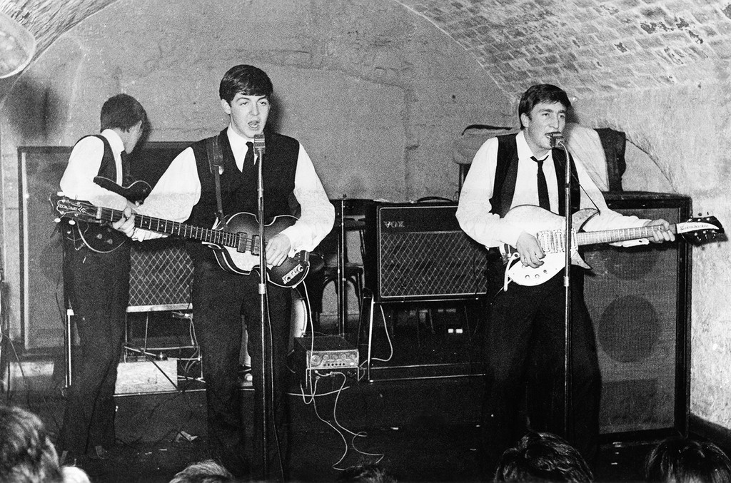 The Beatles performs at the Cavern Club
