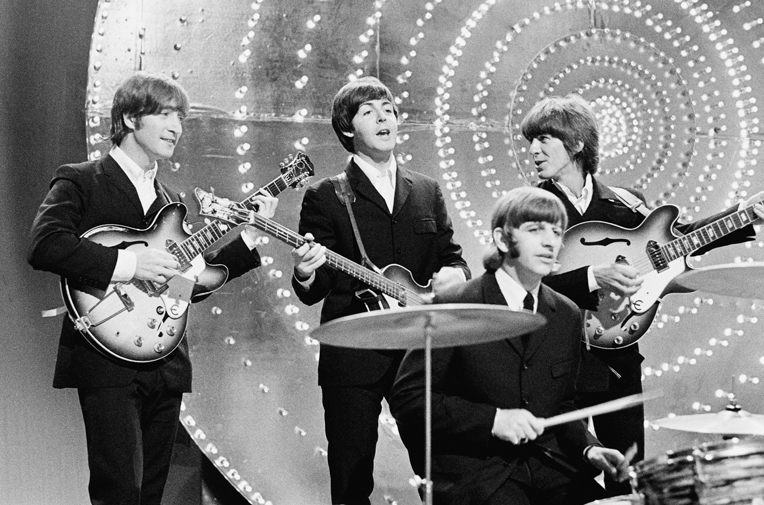 The Beatles perform in London