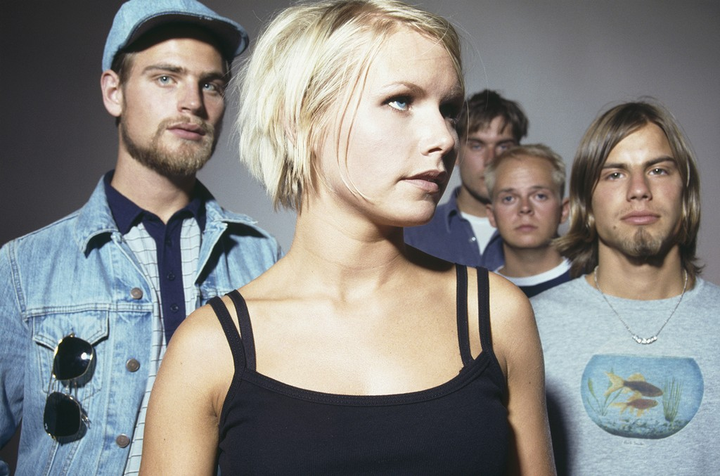 The Cardigans photographed circa 1997.