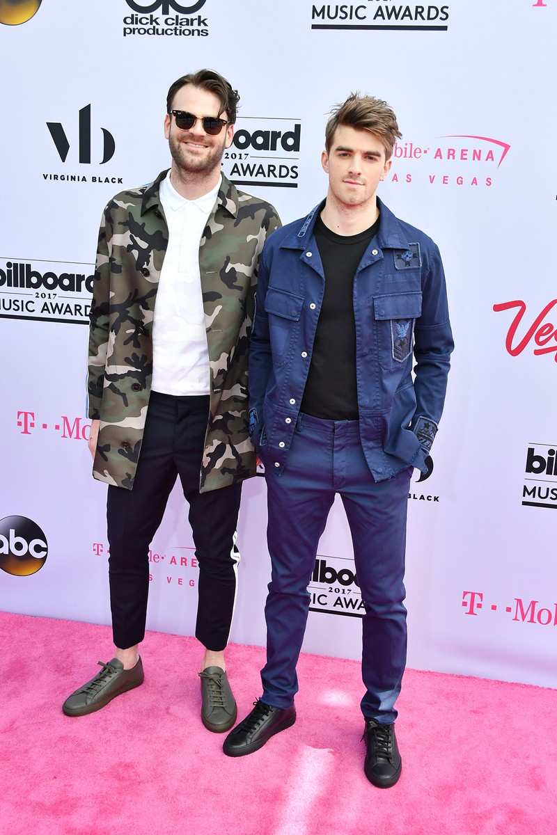 Alex Pall and Andrew Taggart of The Chainsmokers attend the 2017 Billboard Music Awards at T-Mobile Arena on May 21, 2017 in Las Vegas.