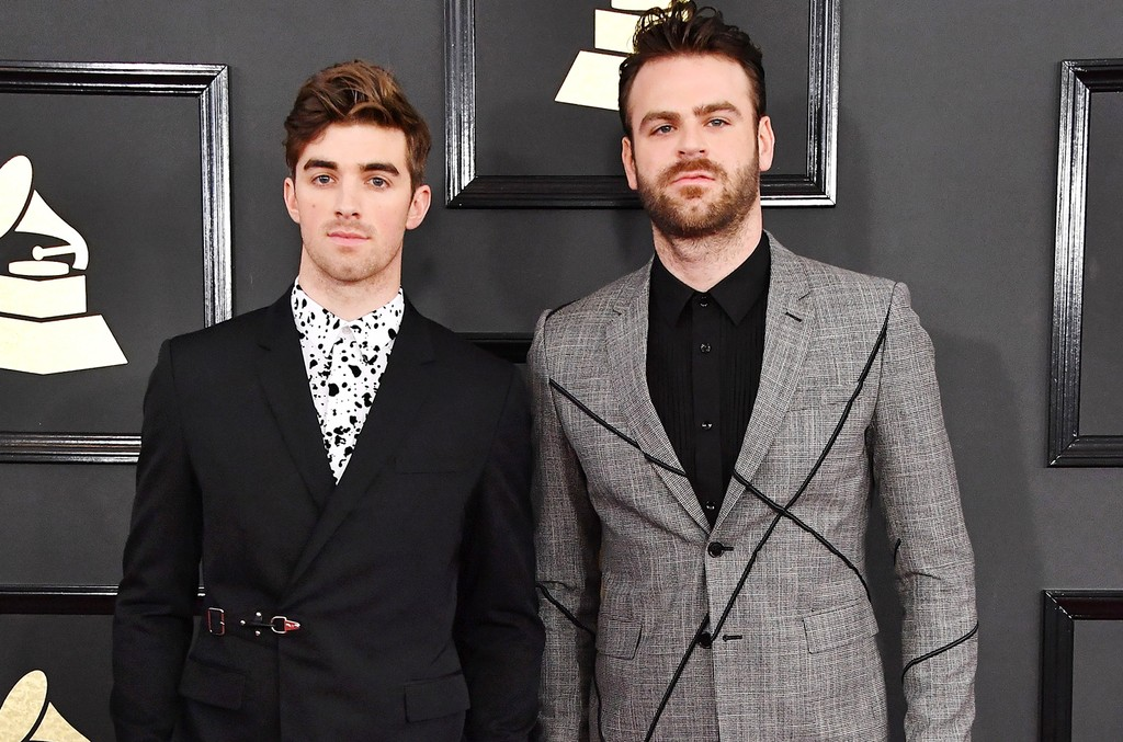 Andrew Taggart (L) and Alex Pall of The Chainsmokers attend The 59th Grammy Awards at Staples Center on Feb. 12, 2017 in Los Angeles.
