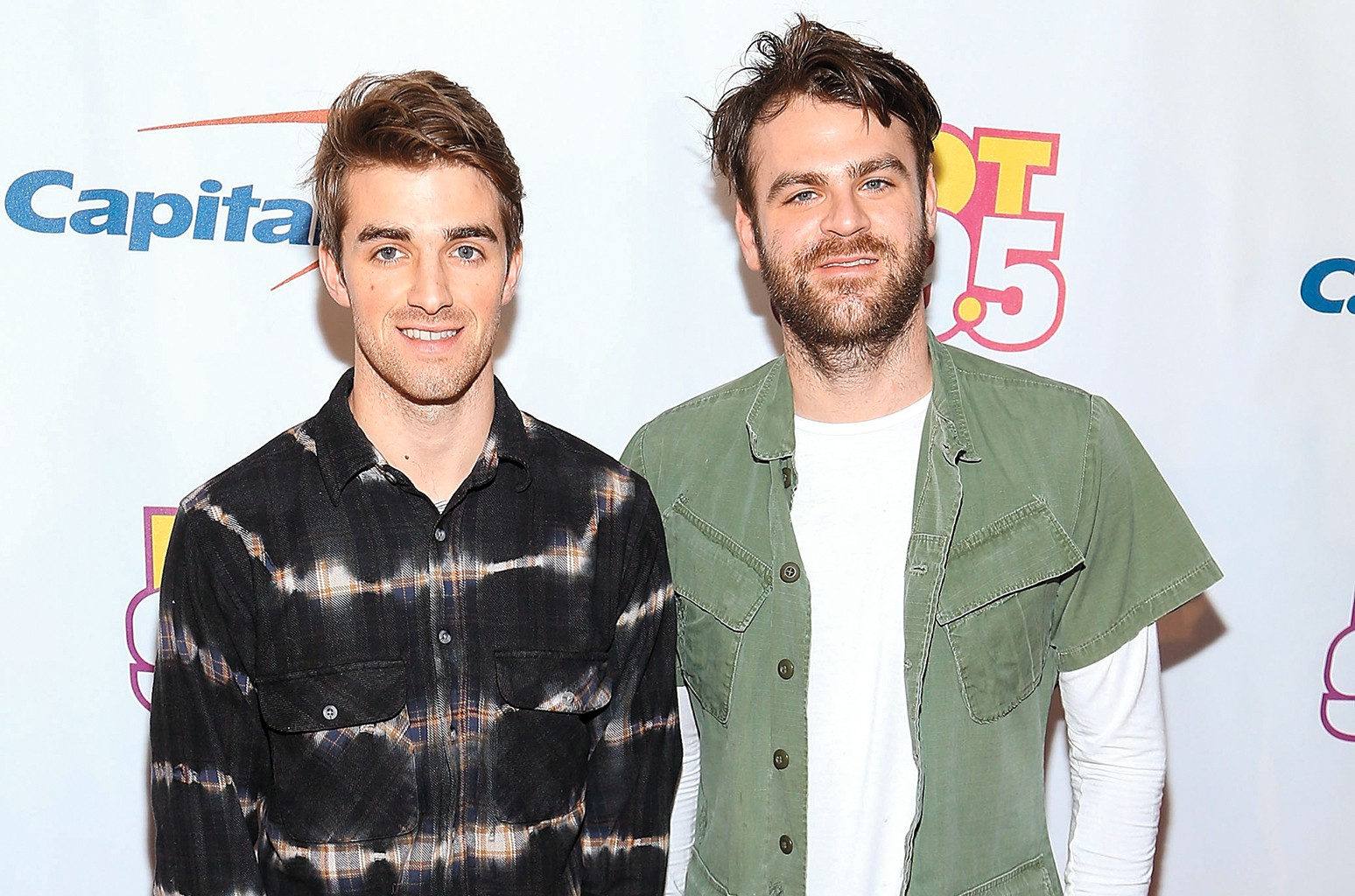 Andrew Taggart and Alex Pall of The Chainsmokers arrive at Hot 99.5's Jingle Ball 2016 at the Verizon Center on Dec. 12, 2016 in Washington, DC.