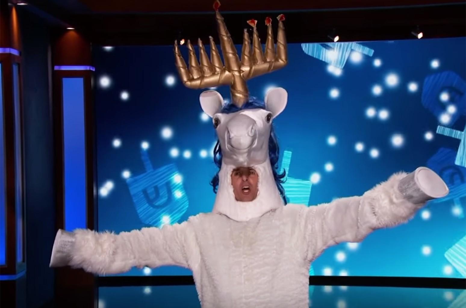 The Chanucorn returns on Jimmy Kimmel Live
