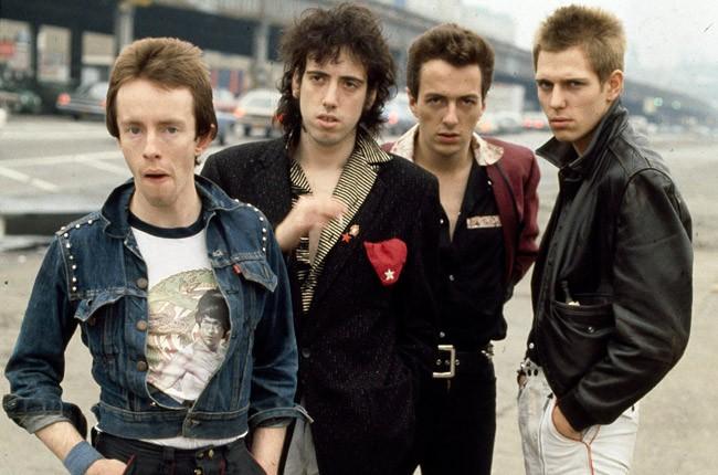 Topper Headon, Mick Jones, Joe Strummer and Paul Simonon of The Clash in New York in 1978.