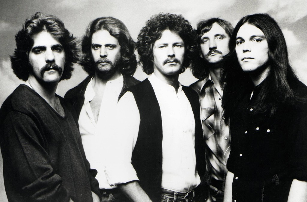 The Eagles photographed in 1977.