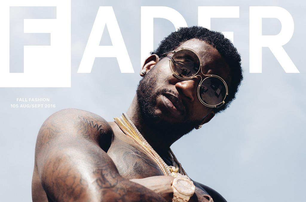 Gucci Mane on the cover of The Fader.