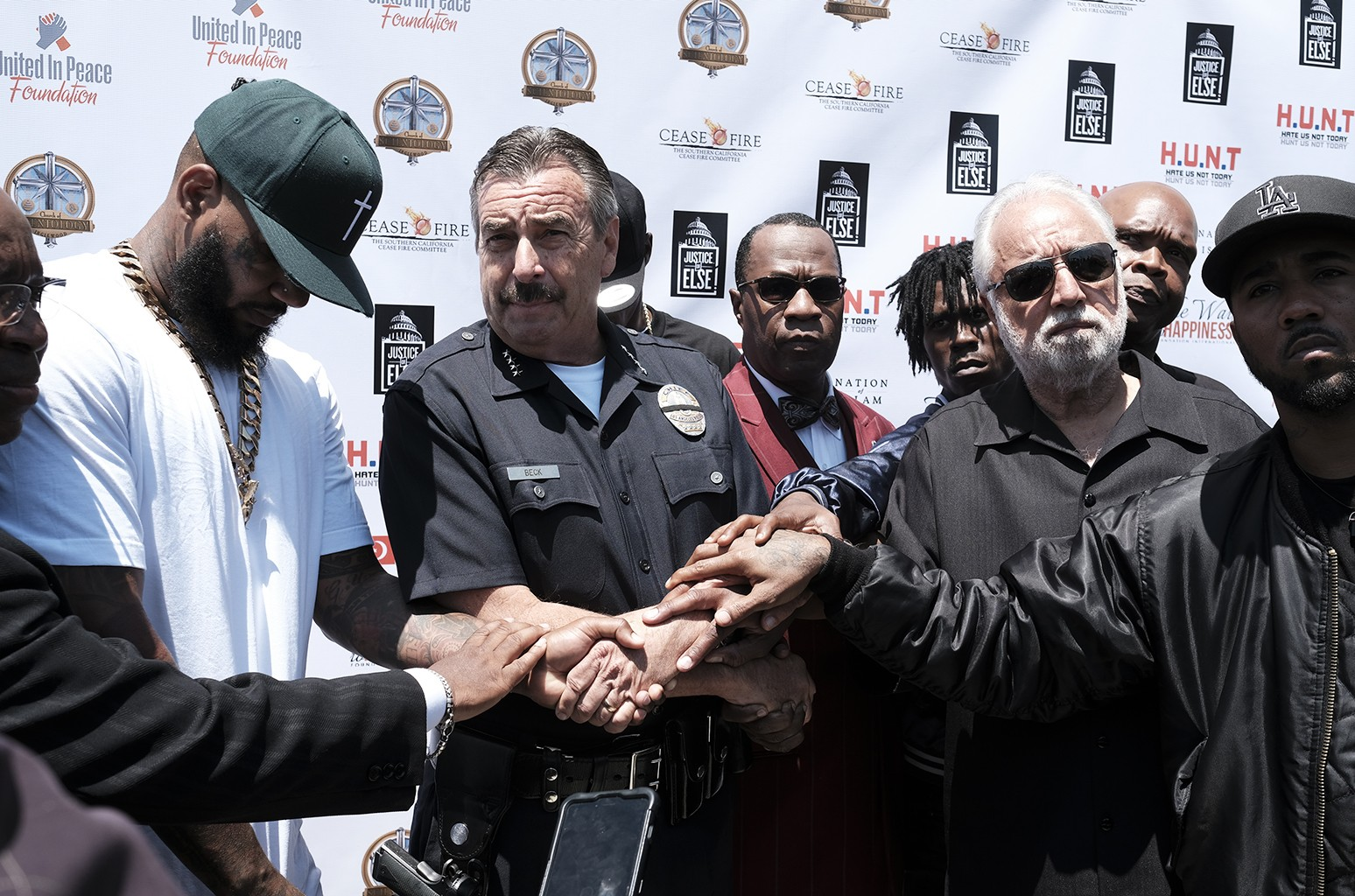 The Game and LA Police Chief in 2016