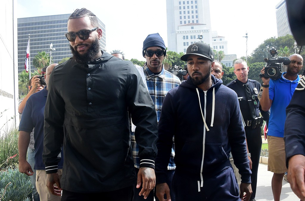 The Game and Snoop Dogg make their way into LAPD headquarters