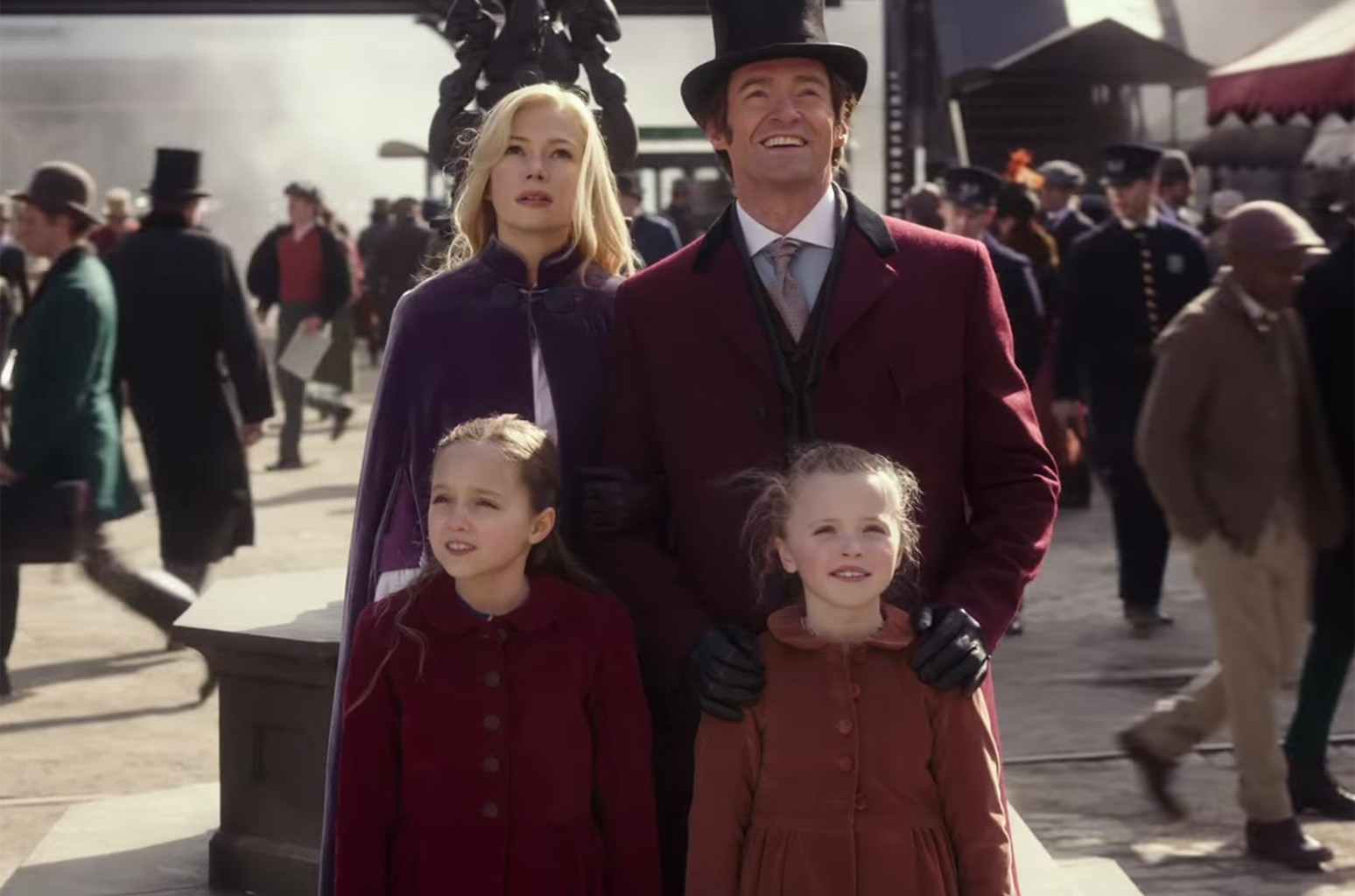 """A scene from the trailer for """"The Greatest Showman"""""""