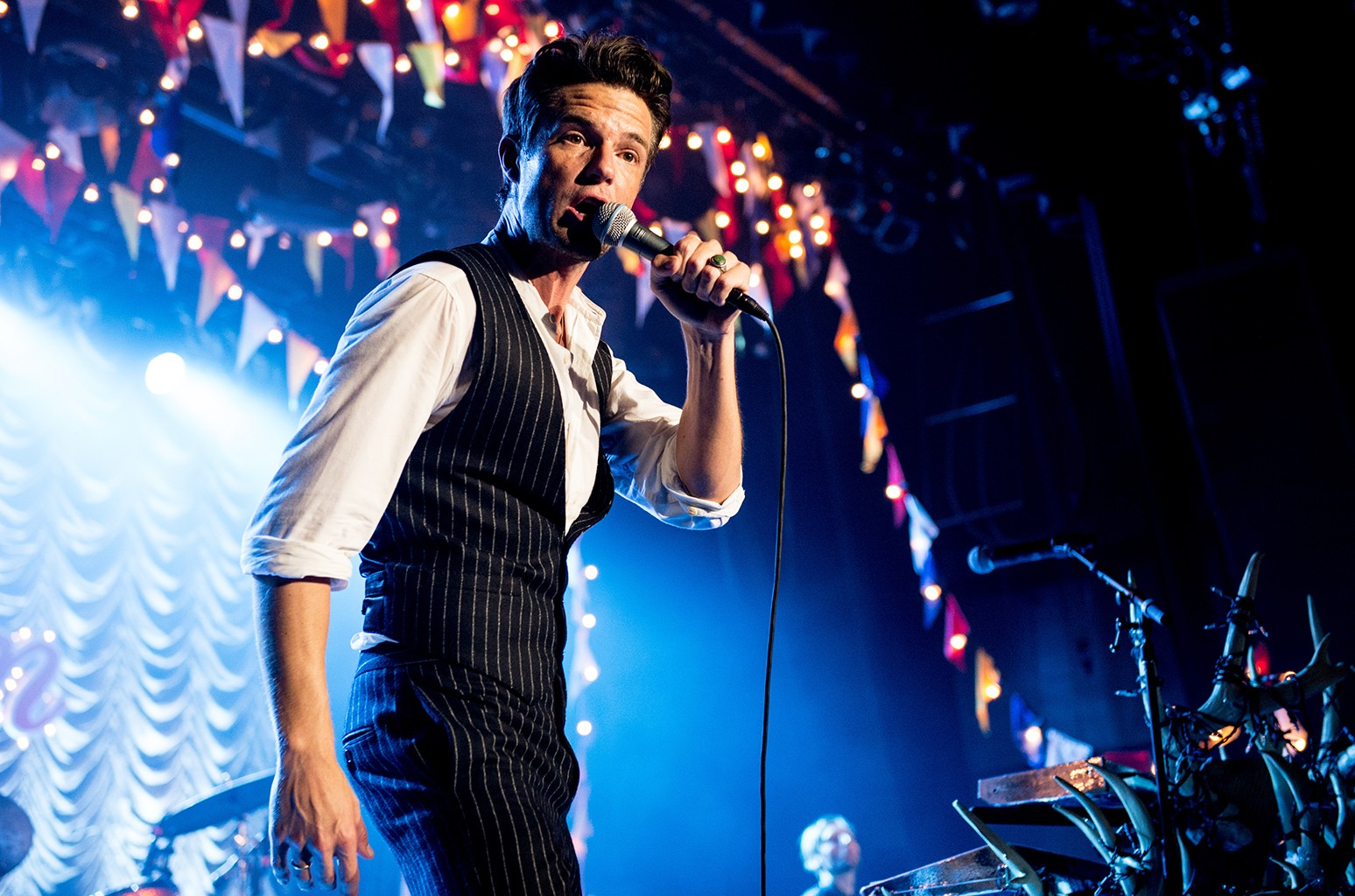 Brandon Flowers of The Killers performs at Sam's Town Hotel & Gambling Hall on Oct. 1, 2016 in Las Vegas.