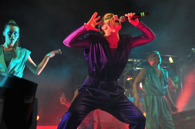 The Knife performs onstage during day 1 of 2014 Coachella