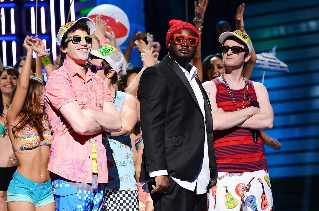 Andy Samberg, T-Pain and Akiva Schaffer of The Lonely Island