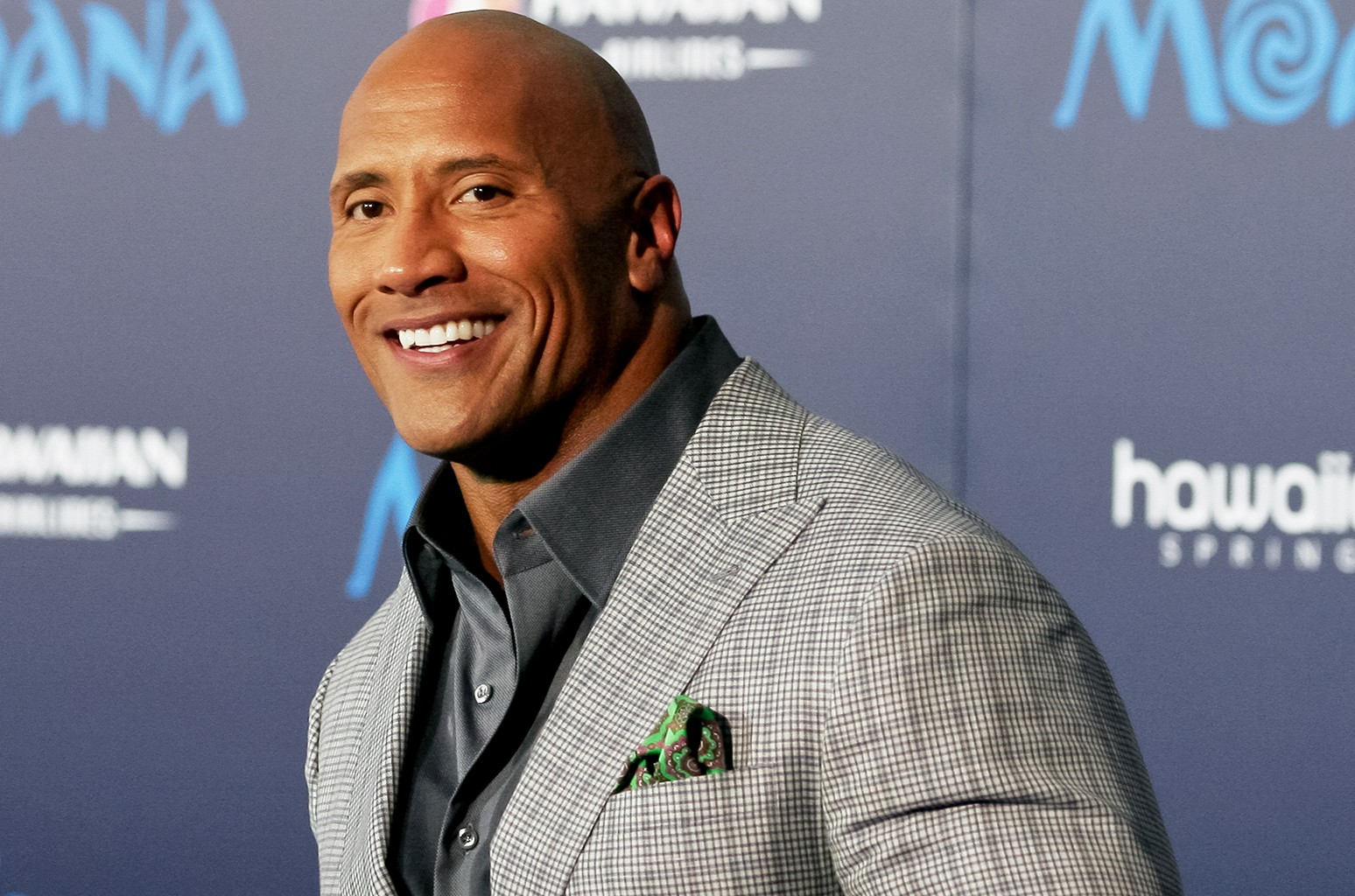 Dwayne Johnson attends the premiere of Moana