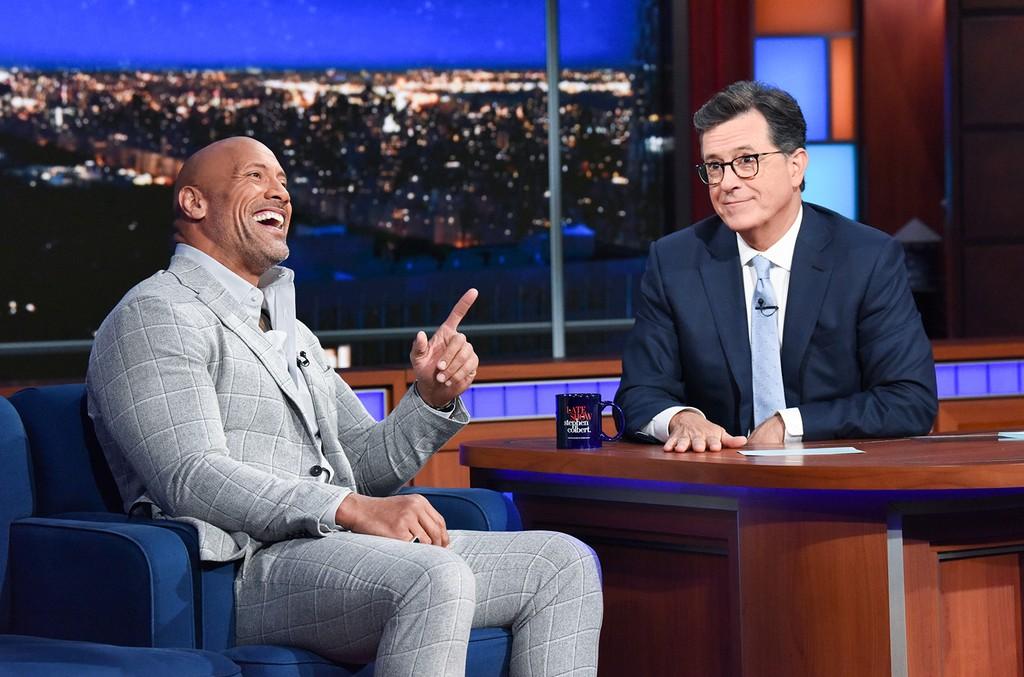 The Rock Stephen Colbert
