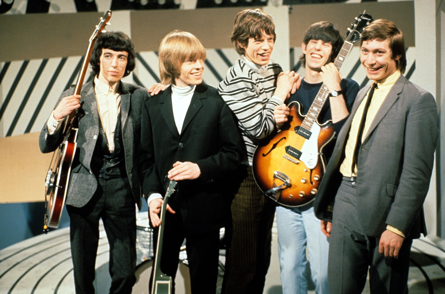 The Rolling Stones photographed in 1965.
