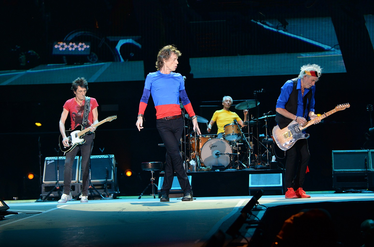 The Rolling Stones perform during Desert Trip