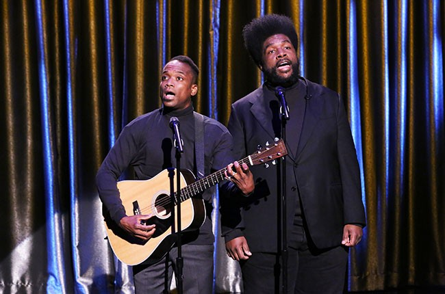 The Roots as Black Simon and Garfunkel, 2014.