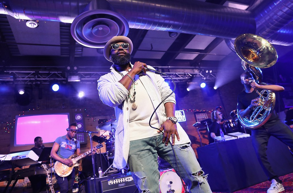 The Roots and Friends perform during the 2nd annual Bud Light Jam Session at SXSW in Austin, Texas.