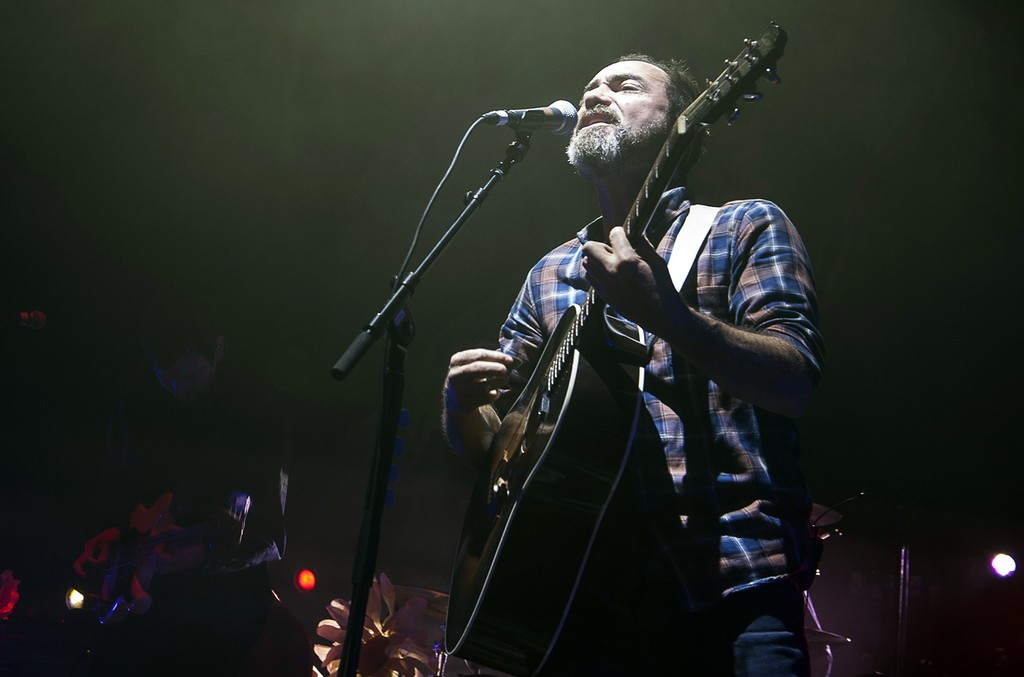 James Mercer of The Shins performs at Eventim Apollo on March 29, 2017 in London.