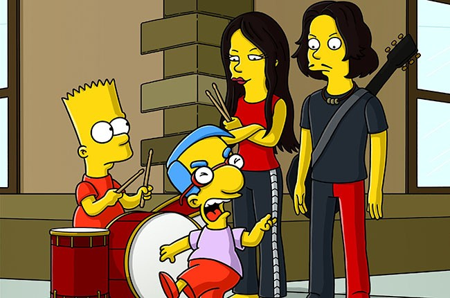 The White Stripes on The Simpsons, 1991.