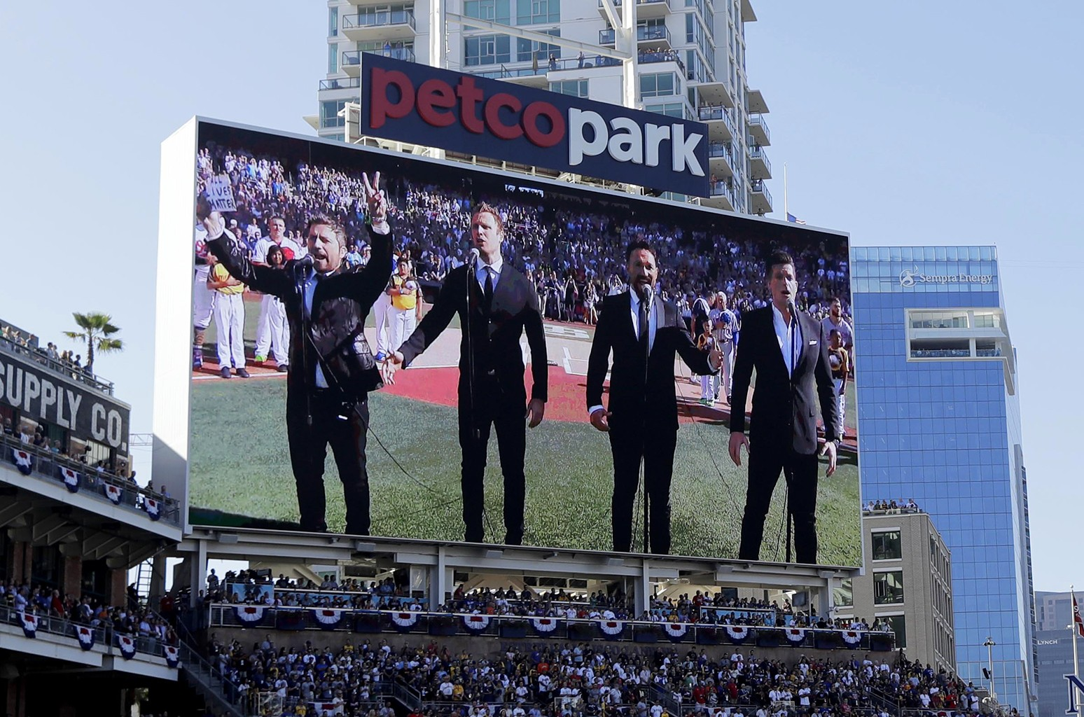 The Tenors perform at the MLB baseball All-Star Game